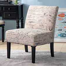 Accent Chairs For Living Room Contemporary Merax Fabric Armless Contemporary Accent Chair Dining