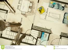 Drawing Floor Plan Architectural Flat Floor Plan Stock Photo Image 57372682
