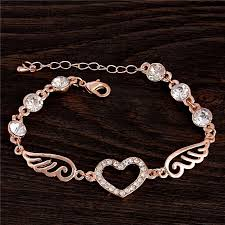 heart link charm bracelet images Beautiful heart wing charm bracelet with chain link my soul spirit jpg