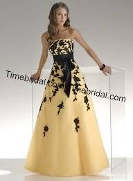 black yellow prom dress prom dresses dressesss