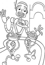 robot takes carls noodle meet robinsons coloring