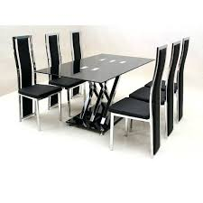 Glass Dining Table And 6 Chairs Glass Dining Room Sets For 6 Amazing Dining Table Chairs Set 6