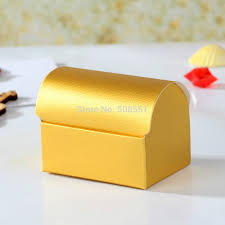 candy boxes wholesale 12 x gold paper gift candy box wedding favor treasure chest favor