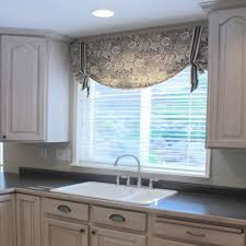 Black Curtains With Valance Posey White Black Jasper Valance Kitchen Curtains Valances Swags