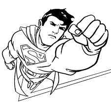 cartoon picture superman kids coloring
