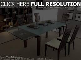 expandable glass dining room tables modern glass extendable dining