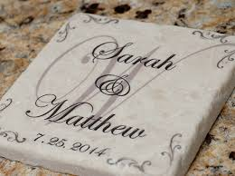 wedding coasters personalized wedding anniversary coasters with holder