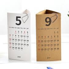 bureau tableau 2 en 1 2018 trois dimensions triangle bureau calendrier de bureau papier