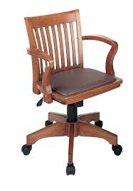 amazon com office star deluxe wood bankers desk chair with brown