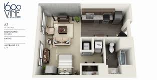 Studio Plans by Studio Apartments For Rent Los Angeles 1600 Vine