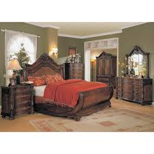 King Size Sleigh Bed Frame Bedroom Arch Style King Size Sleigh Bed With Wooden Dresser And