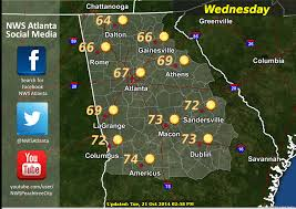 Map Of Georgia Cities Athens Ga Weather For Wednesday October 22 2014