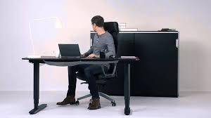 bureau assis debout ikea bureau bekant structure assis debout