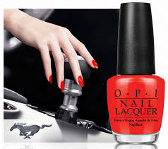 ford and opi team for line of mustang inspired nail polishes