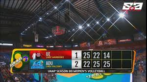 ABS CBN Sports Adamson Lady Falcons take the lead with a
