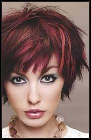 brunette hairstyle with lots of hilights for over 50 short dark brown hair with red highlights health hair skin