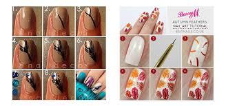 easy u0026 simple autumn fall nail art tutorials for beginners