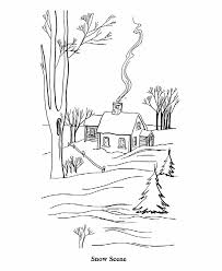bluebonkers winter coloring farm house snow