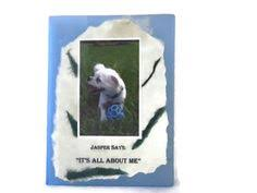 personalized dog photo album aceo atc artists trading card asia and snow at the circus child