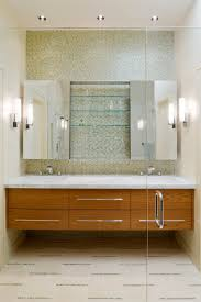 Frameless Mirror Bathroom by Looking Frameless Mirror In Bathroom Contemporary With Floating
