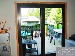 Three Panel Sliding Glass Patio Doors by Door West Coast Windows