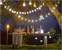 strings of outdoor party lights the best option party lighting ideas outdoor with decorated garden