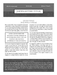 simple u0026 elegant two column newsletter template newsletter