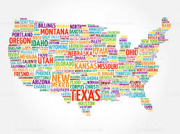 Ohio Usa Map by Usa Map Word Cloud Collage Stock Vector Art 800735898 Istock