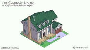 architecture gif reimagining the simpsons home in 8 popular architectural styles