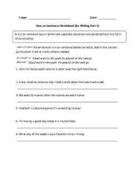 completing sentence fragments worksheet beginner education