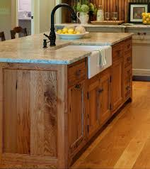 kitchen island sink plumbing vent solid light oak wood apron front