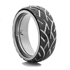 mens spinner rings men s black motorcycle spinner ring titanium buzz