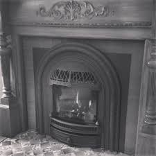 gas fireplace retro look in this home built in the 1920 u0027s with a