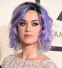 did katy perry totally trick us with her purple hair at the