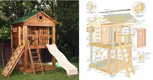 Backyard Fort Ideas Fun Backyard Playhouse Plans Design And Ideas Of House