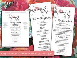 Word Template For Wedding Program 19 Best Programs Images On Pinterest Wedding Programs Wedding