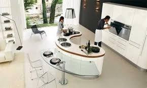 kidney shaped island kitchen unique kitchen islands curved