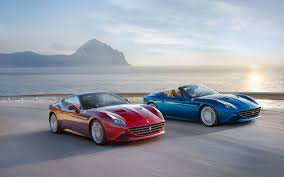 Ferrari California Convertible Gt - ferrari california t convertible road sea sunset car