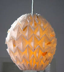 Origami Light Fixture Folded Lampshades Origami Lampshade