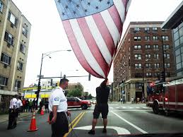 Flag On Fire Flag Of The Day Chicago Fire Department Puts Up A 10 Ft By 15 Ft
