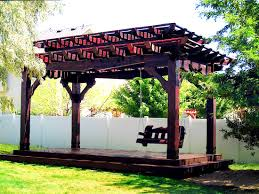 Asian Patio Design by Furniture Charming Pergola Roofing Design Ideas Western Timber