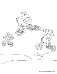 mountain bike cycling sport coloring pages hellokids com