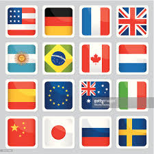 image of different flags from around the world vector getty images
