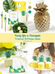 Printable Hawaiian Decorations Pineapple Birthday Party Printables Supplies U0026 Decorations Food