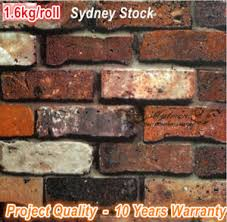 textured rustic old aged look red brown brick wallpaper home shop