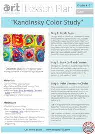 kandinsky color study free lesson plan download the art of