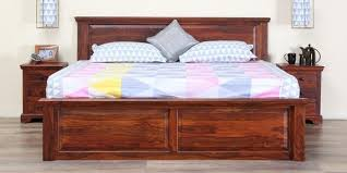 buy stanfield solidwood king bed in honey oak finish by amberville