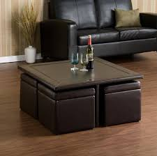 Coffee Table With Stools Underneath Coffee Table Best Ottoman Tray Leather With 4 Ottomans Underneath