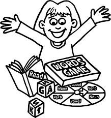 words board game coloring page wecoloringpage