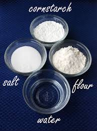 recipe for clay jewelry 3 4 cup flour 1 2 cup cornstarch 1 2 cup